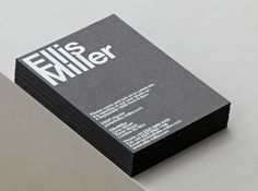 business card. Ellis Miller.  // Hi Friends, look what I just found on #business #card #design! Make sure to follow us @moirestudiosjkt to see more pins like this | Moire Studios is a thriving website and graphic design studio based in Jakarta, Indonesia.