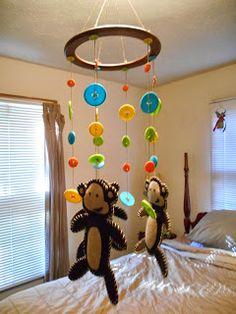 DIY Monkey Mobile Tutorial :: Crafts & Dreams