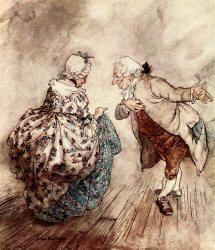 Arthur Rackham - 'Then Old Fezziwig stood out to dance with Mrs Fezziwig' from ''A Christmas Carol'' (1915), written by Charles Dickens