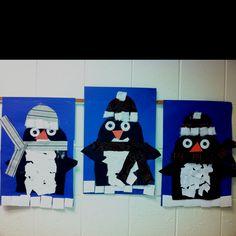 Penguins- Kindergarten (art teacher: v. giannetto)