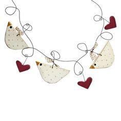 Chicken & Heart Hearth Swag