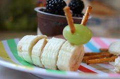 Caterpillar banana snack.