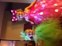 DIY Minnie Mouse and Tinkerbell tutu Halloween costumes