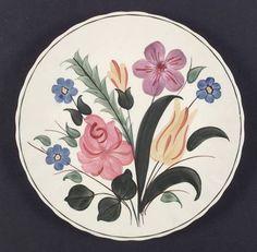 Blue Ridge Southern Pottery, Garden Lane  colonial, multicolor flowers