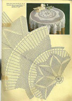 Мобильный LiveInternet Muestras y Motivos Especial Panos 1 Crochet Tablecloth Pattern, Crochet Doily Diagram, Crochet Doily Patterns, Crochet Art, Crochet Round, Crochet Home, Thread Crochet, Filet Crochet, Crochet Motif