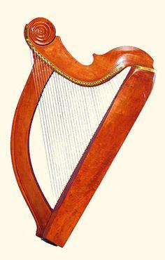 Wire strung harps