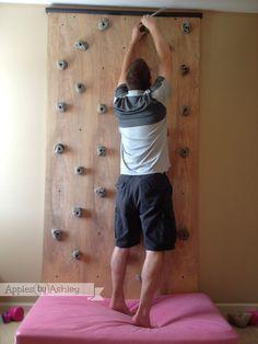 DIY Interior Rock Climbing Wall at Apples by Ashley