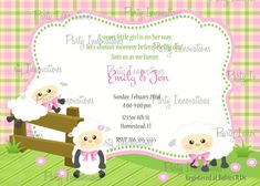 Printable Sheep Baby Shower Invitation plus by PartyInnovations09, $8.00
