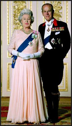 Queen Elizabeth II and Prince Philip. Prince Philip is the oldest male member in record in the royal family at 91 years of age. Together the Queen and Prince have enjoyed 66 years of marriage.