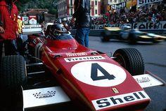 "Jacques Bernard ""Jacky"" Ickx (BEL) (Scuderia Ferrari), Ferrari 312B2 - Ferrari Tipo 001 3.0 Flat-12 -1971 Monaco Grand Prix, Circuit de Monaco - © Scuderia Ferrari / Schlegelmilch Photography"
