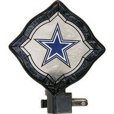 NFL  Dallas Cowboys Vintage Art Glass Nightlight
