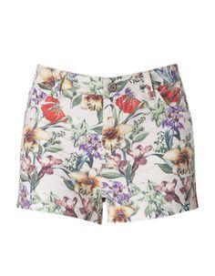 Shorts mit Blumenmotiv