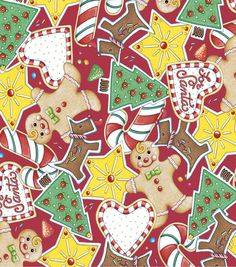 Holiday Inspirations Christmas Fabric-Mary Engelbreit Christmas Cookies