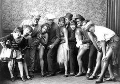 African American vaudeville group in blackface (1920s).