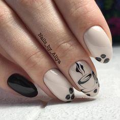40 Coffee Nail Designs That Are So Cute! - Coffee Nail Designs That Are So Cute! Latest Nail Designs, Fall Nail Designs, Winter Nails, Summer Nails, Fall Nails, Trendy Nails, Cute Nails, Hair And Nails, My Nails