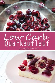Hier gibt's den besten Quarkauflauf Low Carb mit Kirschen! Ein mega saftiges und… Here's the best quark casserole low carb with cherries! A very juicy and quick recipe for dinner or lunch. carb No Carb Rezepte Low Carb Dinner Recipes, Low Carb Desserts, Quick Recipes, Diet Recipes, Supper Recipes, Protein Recipes, Pork Recipes, Vegetarian Recipes, Bolos Low Carb