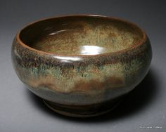 gorgeous layered glazes by Hurricane Pottery