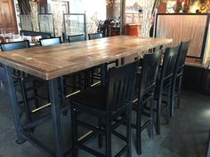 """Reclaimed wood dining top,9ft x 42""""dining table,restaurant table top, add your metal iron base"""