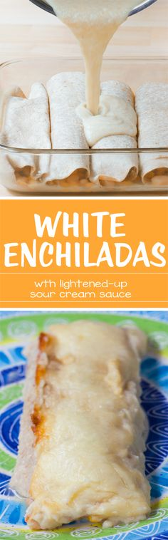 These deliciously lightened-up & vegan enchiladas are the ultimate healthy comfort food! Full recipe: http://chocolatecoveredkatie.com/2016/11/01/vegetarian-enchiladas-white-healthy/ @choccoveredkt