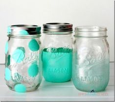 Ball Mason Jars Painted - Mason Jar Crafts Love