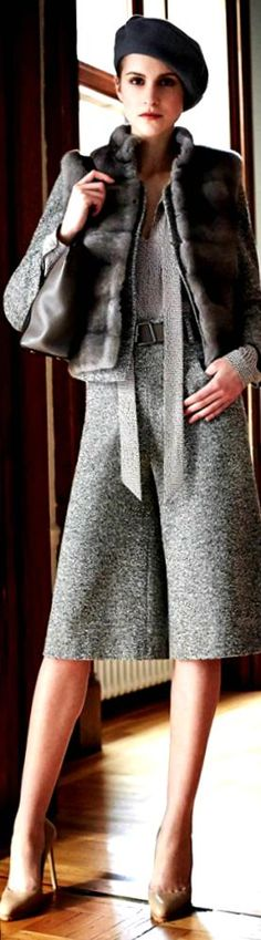 126e2b090f455e Georges Chakra, Classy Chic, Casual Chic Style, Business Chic, Grey Fashion