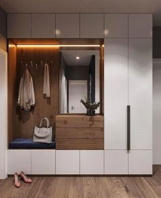 Garderobe Two-tone mudroom or closet cabinets How Fire-Safe Is Your School? Home Entrance Decor, House Entrance, Entryway Decor, Home Decor, Entryway Ideas, Hallway Ideas, Entrance Halls, Hallway Decorating, Decorating Ideas