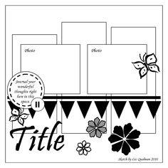 My Little Sketch Blook: Sunday Sketch, Guest Designers & Me Scrapbook Layout Sketches, Scrapbook Templates, Card Sketches, Scrapbook Paper Crafts, Scrapbook Albums, Scrapbooking Layouts, Scrapbook Cards, Scrapbook Photos, Scrapbook Designs