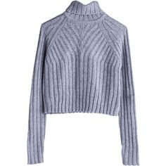 Ali Turtleneck sweater Grey Light ❤ liked on Polyvore featuring tops, sweaters, jumpers, shirts, grey shirt, grey wool sweater, turtleneck shirt, wool turtleneck and wool sweaters