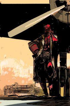 Hellboy sketch by Alex Maleev *
