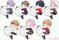Chibi Bts Q cuteeeeeee❤️❤️❤️ Bts Chibi, Anime Chibi, Bts Army Bomb, Bts Bomb, Fanart Bts, Bts Cute, Kpop Drawings, Dibujos Cute, Fan Art