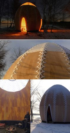 .:  temporary fire shelter  |  Copenhagen , Denmark :.   Maybe this is where I get my love of Yurts!