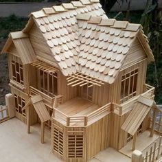 woodworking projects+woodworking projects diy+woodworking projects that sell+woodworking projects plans+woodworking projects for kids+woodworking projects for beginners+woodworking projects beginner+woodworking projects furniture+Fix This Build That Popsicle Stick Crafts House, Popsicle Sticks, Craft Stick Crafts, Easy Woodworking Projects, Diy Wood Projects, Woodworking Plans, Woodworking Apron, Unique Woodworking, Woodworking Machinery