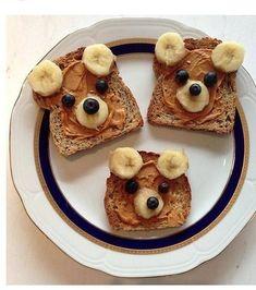 Peanut Butter Blueberry Banana Bear Bread