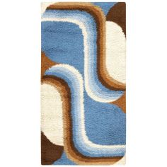 View this beautiful Vintage Swedish Rug designed by Verner Panton from Nazmiyal's fine antique rugs and decorative carpet collection. 70s Decor, Retro Home Decor, Funky Rugs, Cool Rugs, Motif Vintage, Vintage Rugs, Rya Rug, Art Deco, Latch Hook Rugs