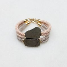 Pyrite and rope bracelets
