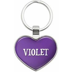 Graphics and More Kyla - Names Female Metal Heart Keychain Key Chain Ring, Multiple Colors Available, Adult Unisex, Size: One size, Pink Laura Lee, Crystal Names, I Love Heart, Key Chain Rings, Key Chains, Pink Ring, Chrome Plating, Heart Shapes, Products
