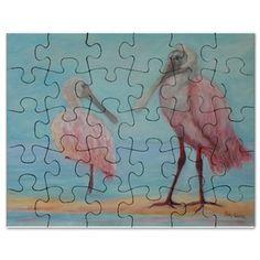 ROSEATE SPOONBILLS IN FLORIDA Puzzle