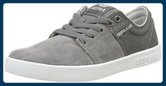 Supra Unisex-Erwachsene Stacks II Sneaker, Grau-Gris (Charcoal/White), 37.5 EU - Sneakers für frauen (*Partner-Link)