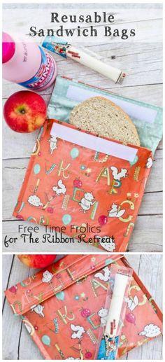 "Reusable Sandwich Lunch Bags {A-Z Series, ""L""} - The Ribbon Retreat Blog"