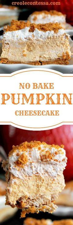 No Bake Pumpkin Cheesecake Lasagna-Creole Contessa by lorene
