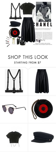 """""""For the all black days"""" by kingaflp ❤ liked on Polyvore featuring CHARLES & KEITH, Pink Tartan, Burberry, Chanel, WithChic, Senso and DANNIJO"""