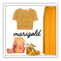 """Marigold"" by patricia-dimmick ❤ liked on Polyvore featuring Marina Hoermanseder, Sonia Rykiel, Miguelina, Fratelli Karida and marigold"