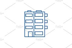 Vector Website, Window Design, Line Icon, Company Logo, Concept, Illustration, Illustrations