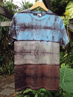 Mens premium Medium multicolor Shibori Landscape by ArtAttackDiner, $15.00