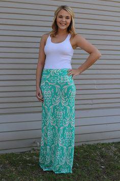 Mint- Nola Maxi Skirt (size small)