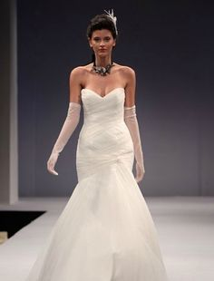 Anne Barge - Sweetheart Mermaid Gown in Tulle