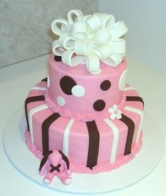 baby shower cakes for girls | Cake Gallery :: Baby Shower Cakes :: CIMG2095