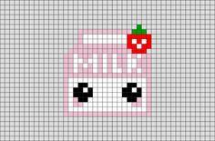 Kawaii Cross Stitch, Tiny Cross Stitch, Simple Cross Stitch, Cross Stitch Designs, Cross Stitch Embroidery, Cross Stitch Patterns, Embroidery Patterns, Easy Perler Bead Patterns, Perler Bead Templates