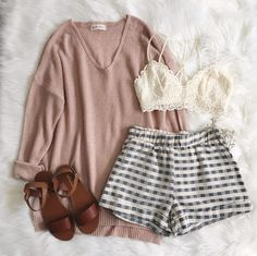 • Bambi Knit Sweater, Arabella Bralette, London Shorts & Barcelona Sandal • Frankie-Phoenix.com