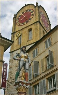 Historical building in #Neuchatel city downtown, #Switzerland